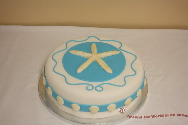 Bermuda Themed Birthday Cake