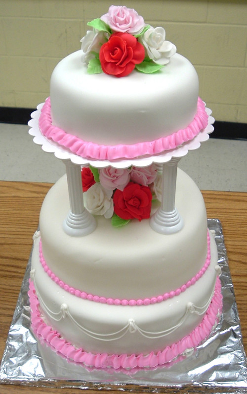 First Tiered Cake
