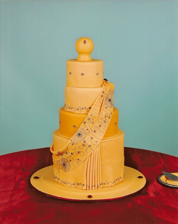 Saree Wedding Cake