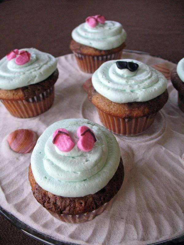 sunglasses beach cupcakes