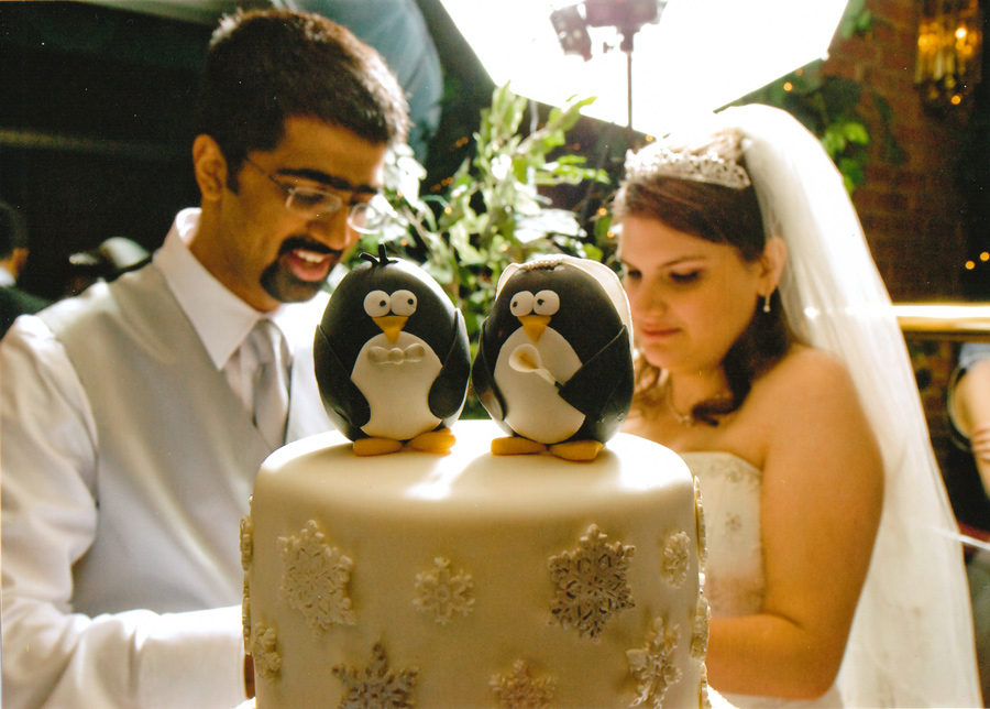 Penguin Wedding Cake - Around the World in 80 Cakes