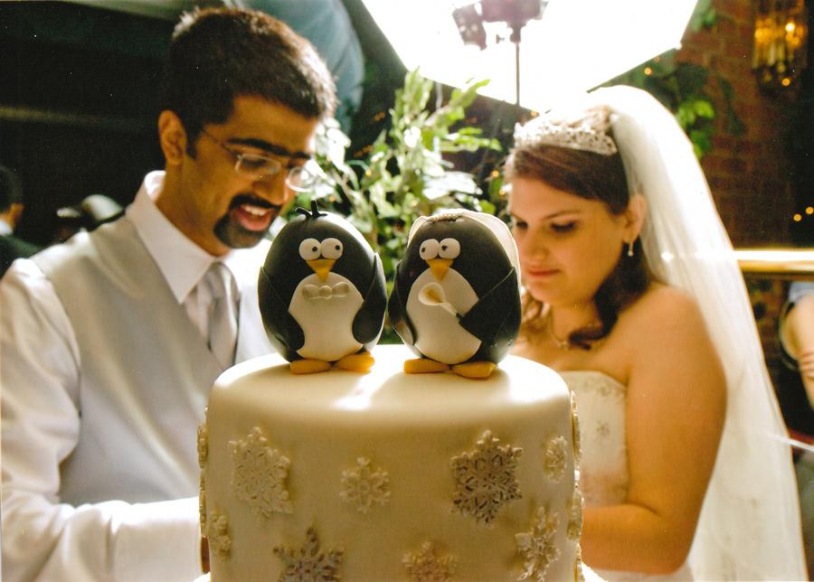 Penguin Wedding Cake - Around the World in 80 Cakes