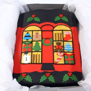 Ugly Christmas Sweater Cake for St. Jude