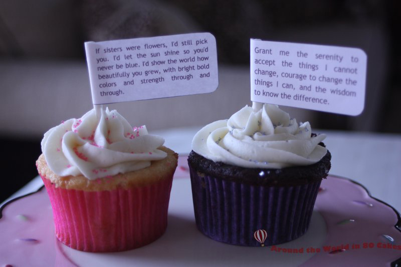inspirational cupcake toppers