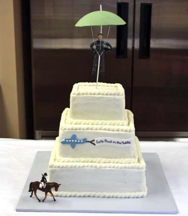 Skydiver Wedding Cake