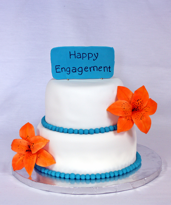 Tiger Lily Engagement Cake