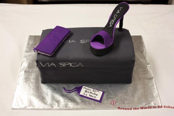 designer shoebox cake