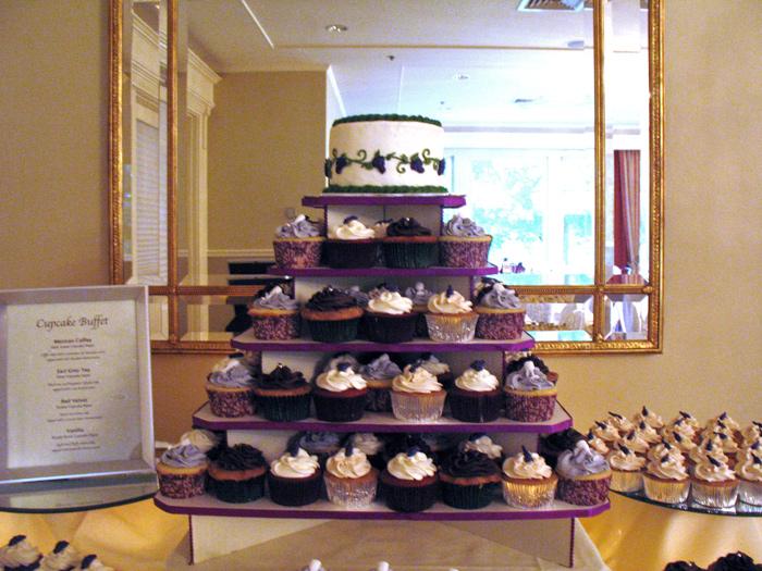 Wine Cupcake Tower