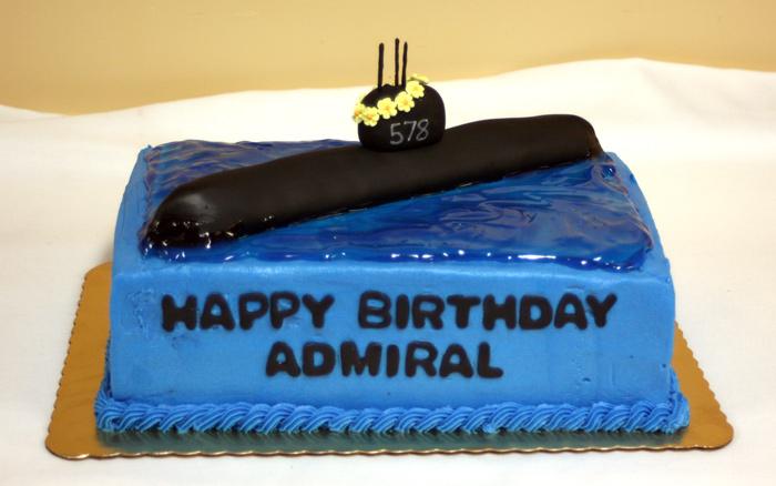 Naval Submarine Cake