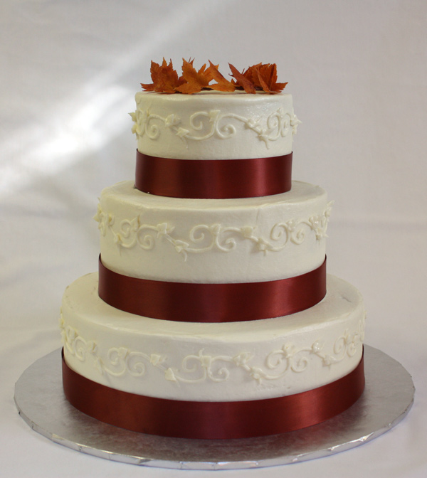 Fall Wedding Cakes Without Fondant