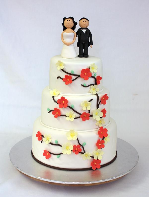 flower blossom wedding cake