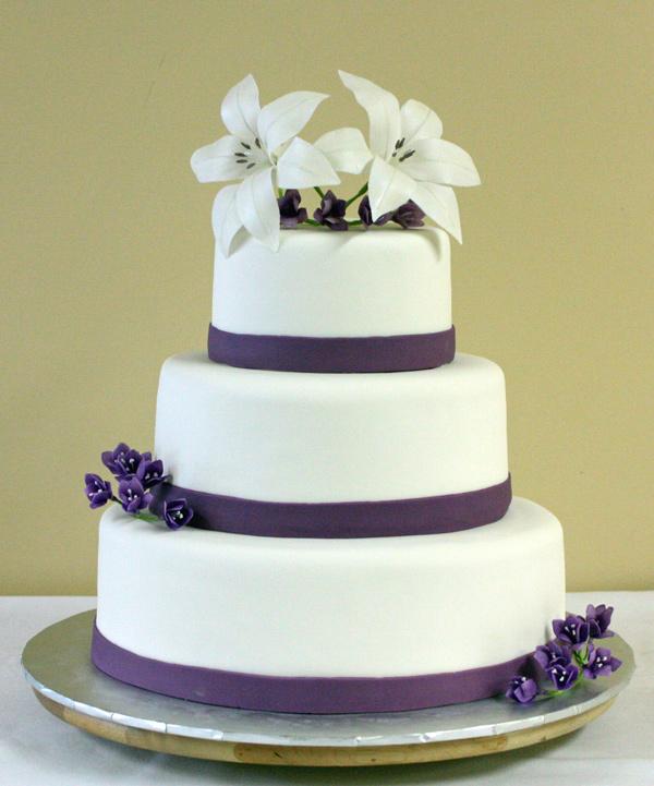And Freesia Wedding Cake - Wedding Cake With Lilies