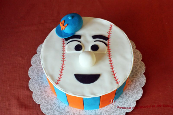 Mr Met Birthday Cake