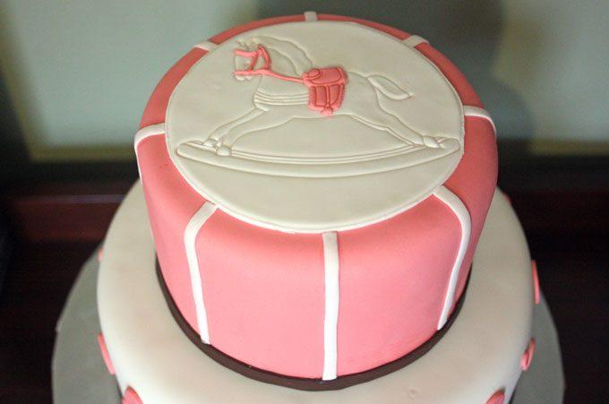 rocking horse baby shower cake