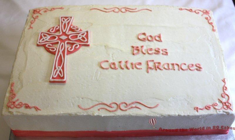 celtic baptism cake