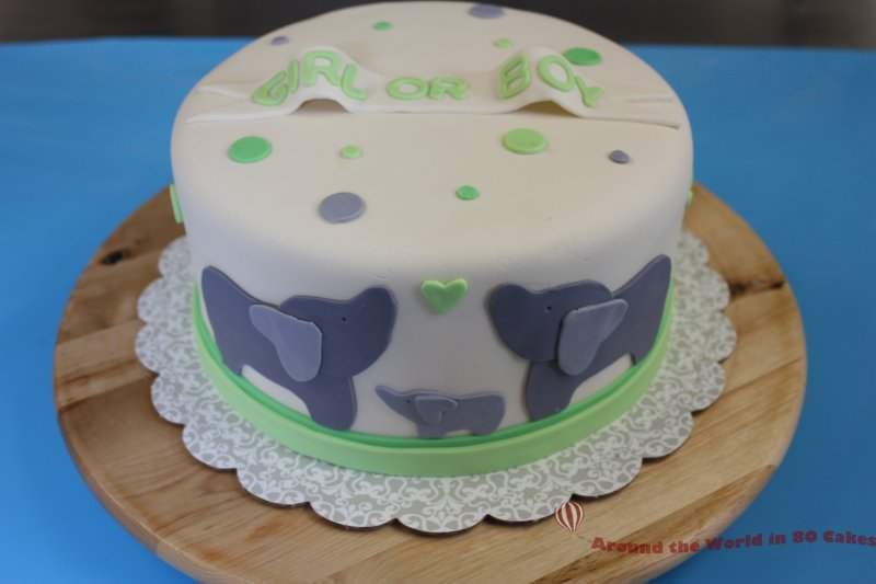 Baby Reveal Cake...It's a boy! - Around the World in 80 Cakes