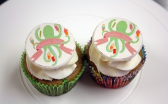 octopus first birthday cupcakes