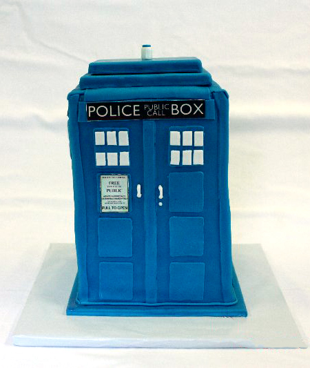 Doctor Who Tardis Cake Around the World in 80 Cakes