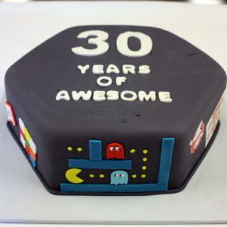 80s Themed 30th Birthday Cake