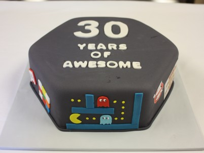 80s themed birthday cake