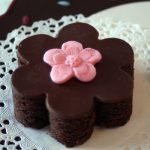 brownie with modeling chocolate decoration