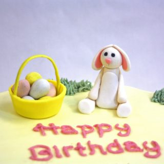 Easter Bunny Cake for a First Birthday