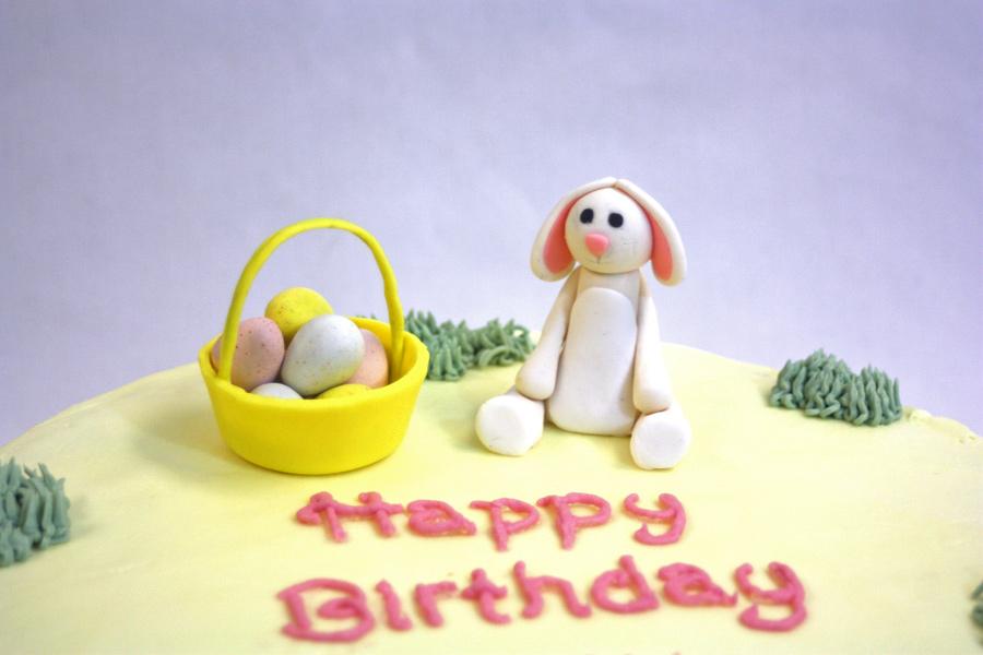 Fondant Easter Bunny Cake