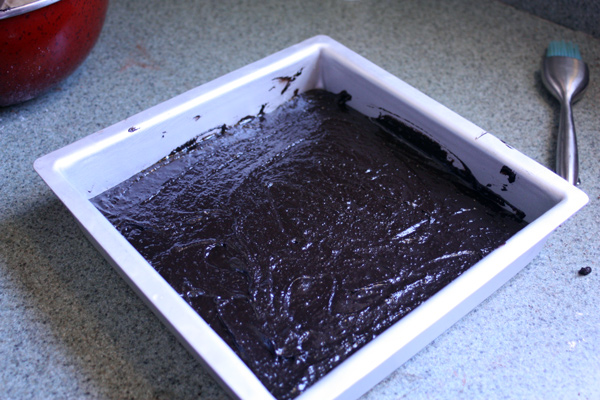black bean brownies - Batter-in-pan