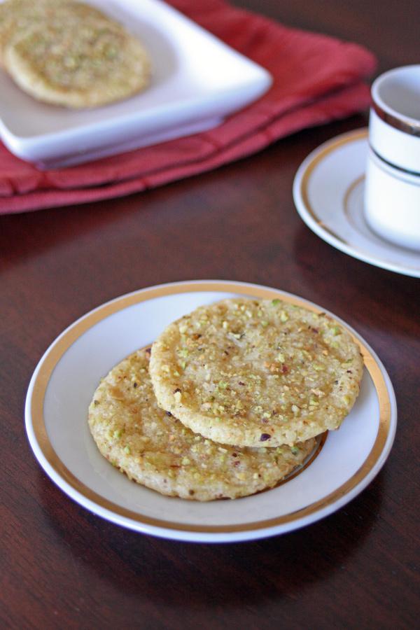 Rose Pistachio Cookies