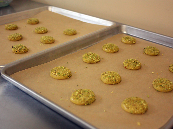 Rose Pistachio Cookies - trays-of-cookies