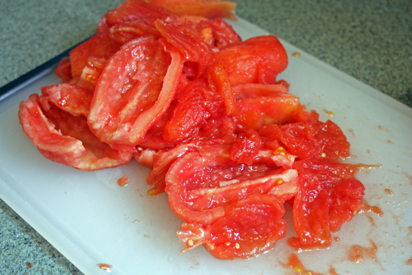 doce de tomate remove the seeds