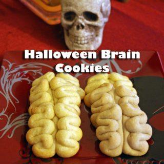 Halloween Brain Cookies