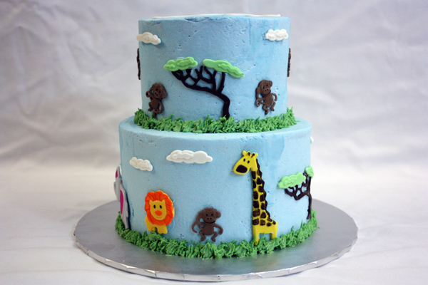 jungle animal baby shower around the world in 80 cakes