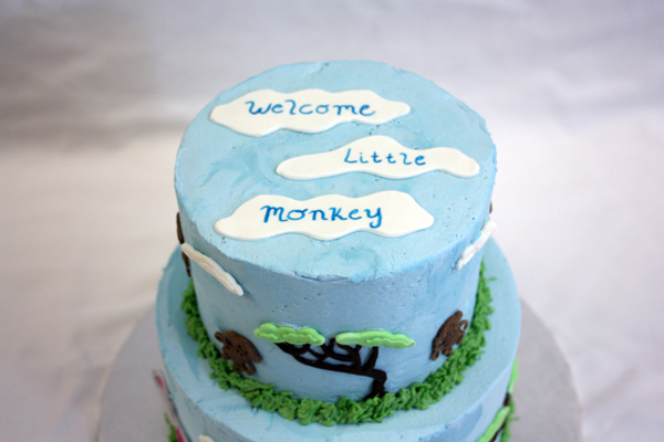 Jungle Animal Baby Shower Cake Topper
