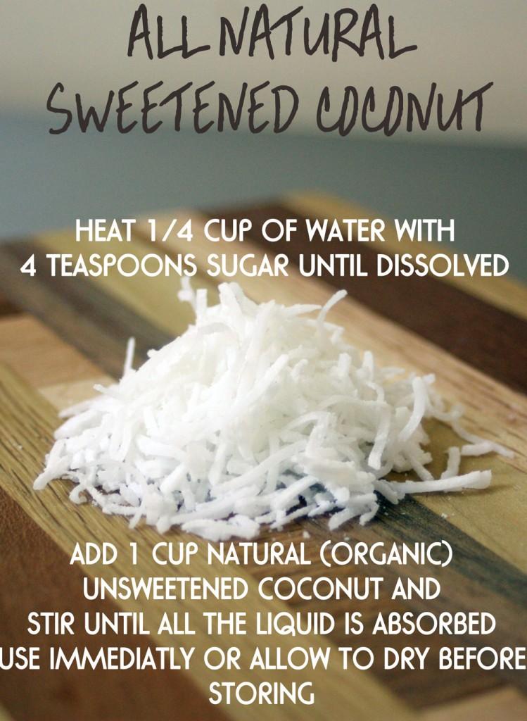 natural sweetened coconut recipe