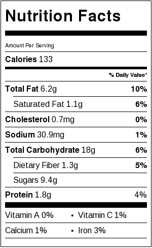 vegan banana cookies label