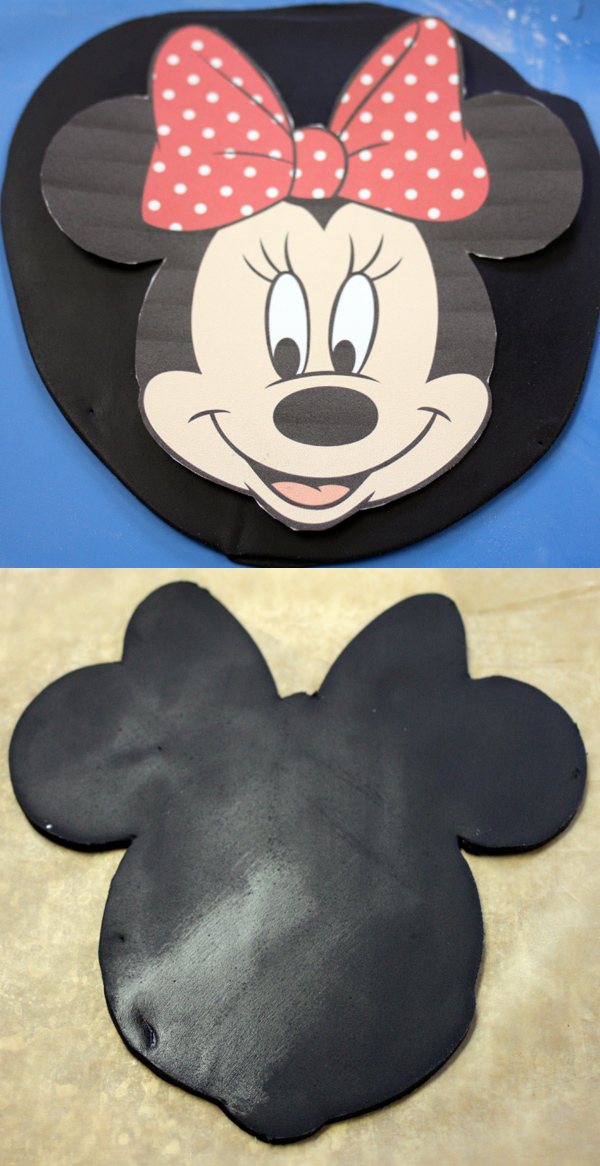 Cake Minnie Mouse Template : Minnie Mouse Cake Topper How-To - Around the World in 80 Cakes