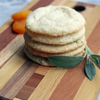 Vegan Apricot Sage Cornmeal Cookies