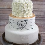 Birch Tree Winter Wedding Cake