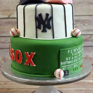 Baseball Themed Bridal Shower Cake
