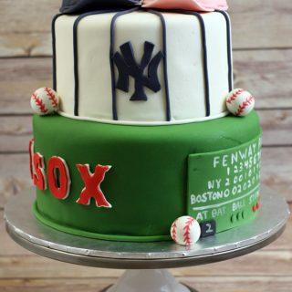 Baseball Themed Bridal Shower Cake