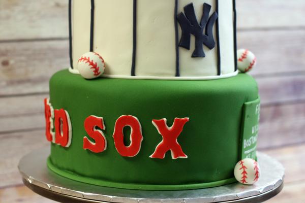 Baseball Themed Bridal Shower Cake - Around the World in 80