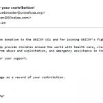2018 Unicef donation