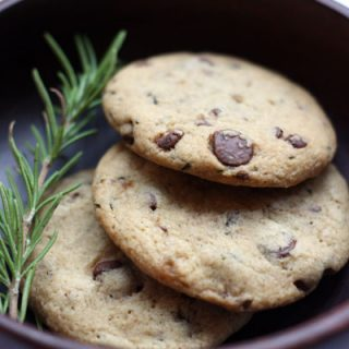 Rosemary Coconut Chocolate Chip cookies