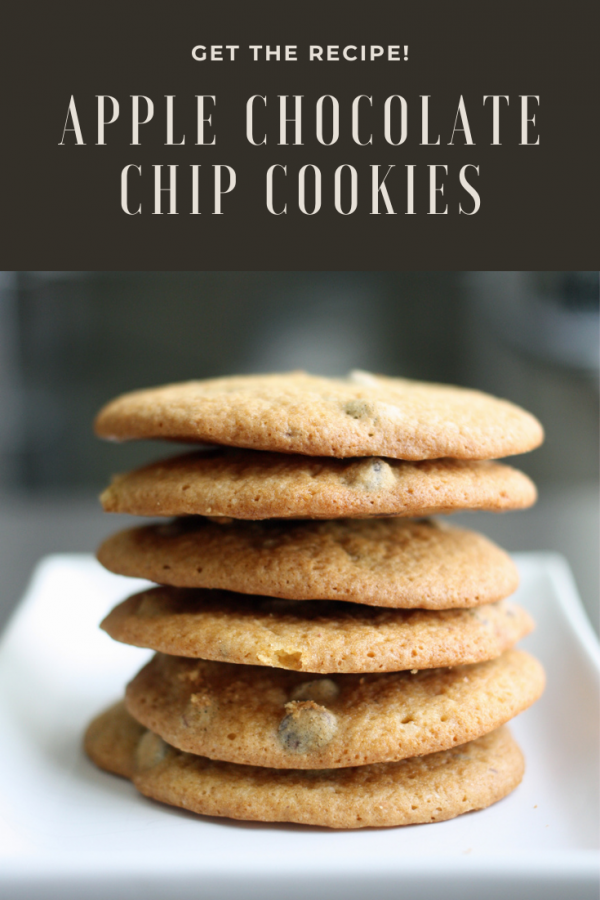 apple chocolate chip cookies for pinterest