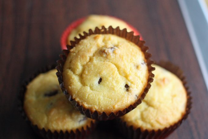 low carb chocolate almond muffins landscape