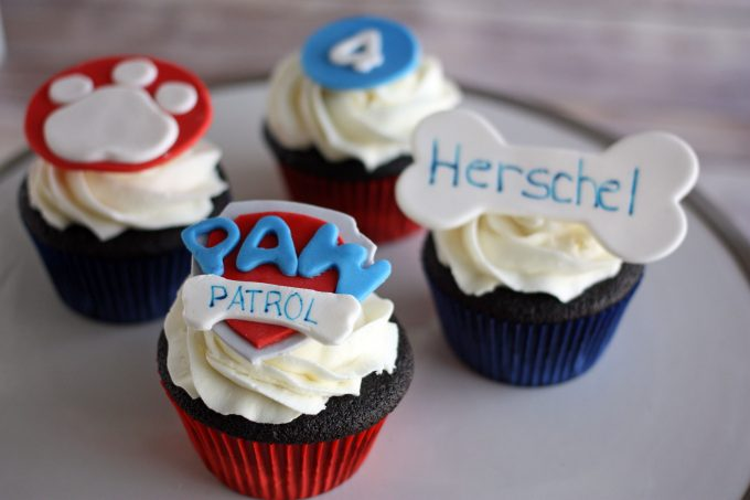 closeup view of cupcake toppers